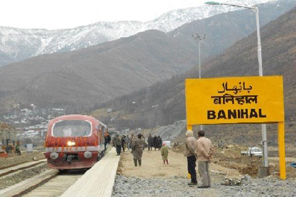 rail service resumed in kashmir
