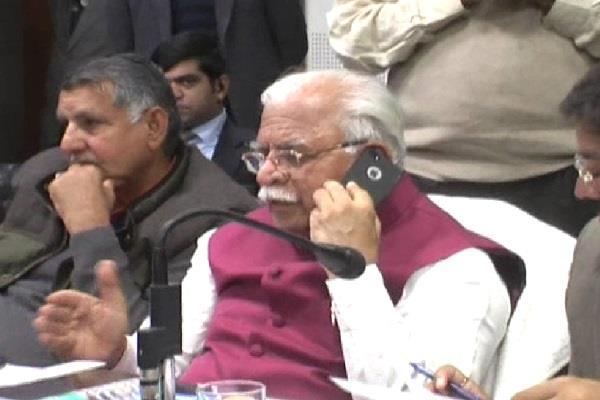 cm manohar lal khattar listen requests in janta darbar