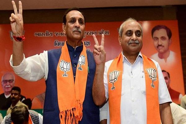 narendra modi vijay rupani nitin patel bjp congress