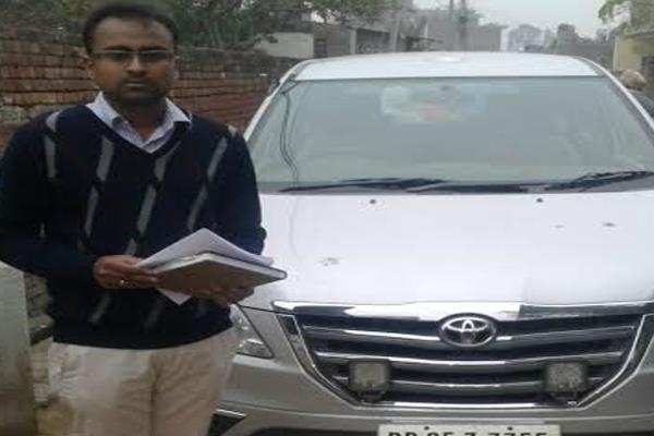 nk sharma blow  doing publicity without approval innova car confiscated