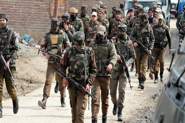 search operation for stone pelters in kasmir
