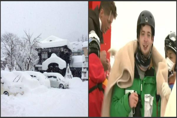 trapped australian family safe in the ski resort of japan