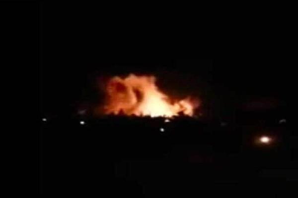 israel fires rockets at air base near damascus