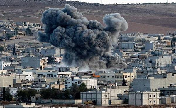 over 40 killed in syria air strikes