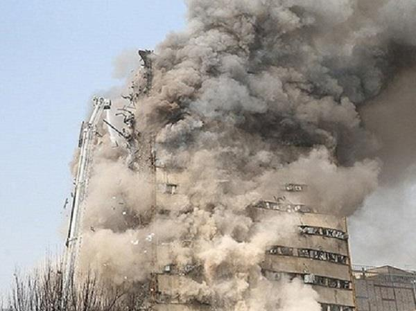 30 killed as blazing building collapses in tehran