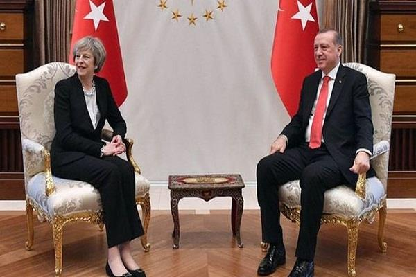 theresa may to discuss trade with president erdogan on turkey visit