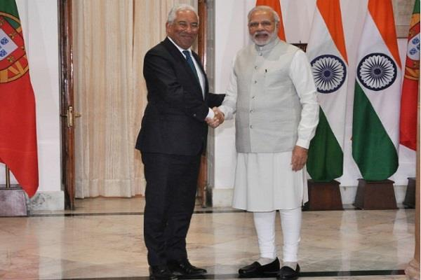 modi pm met the prime minister of portugal  signed 6 agreements