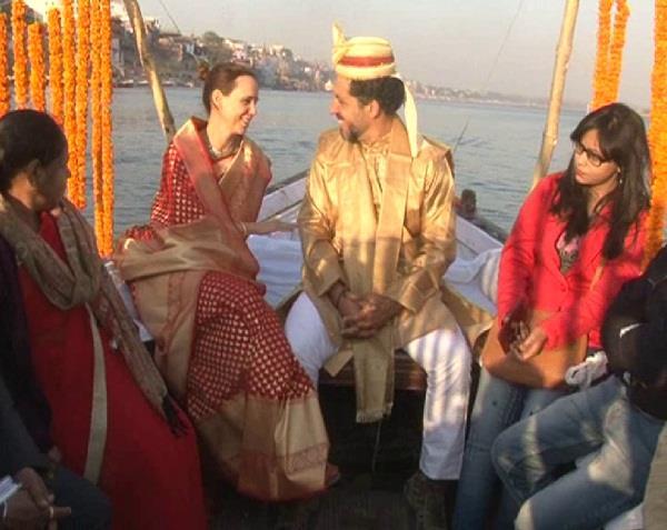 ganga as witness to the marriage of foreign saikolajist