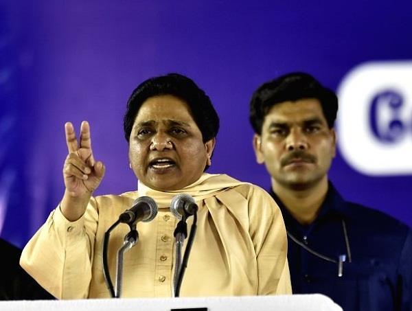 minority looking with suspicion modi government  mayawati