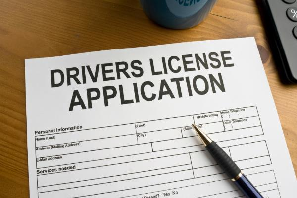 no need to fill form for driving license