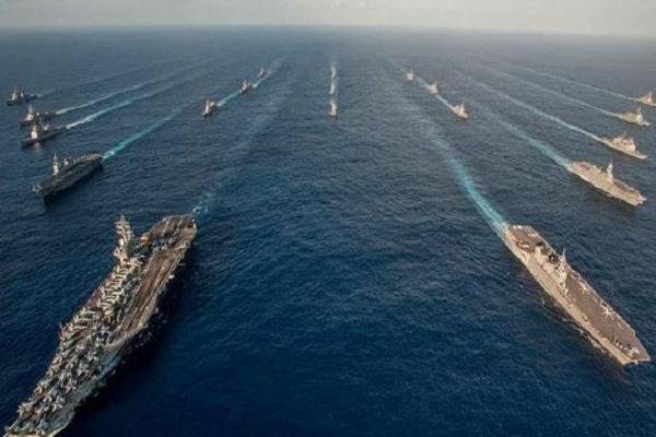 despite warnings from china in the us began patrolling the south china sea