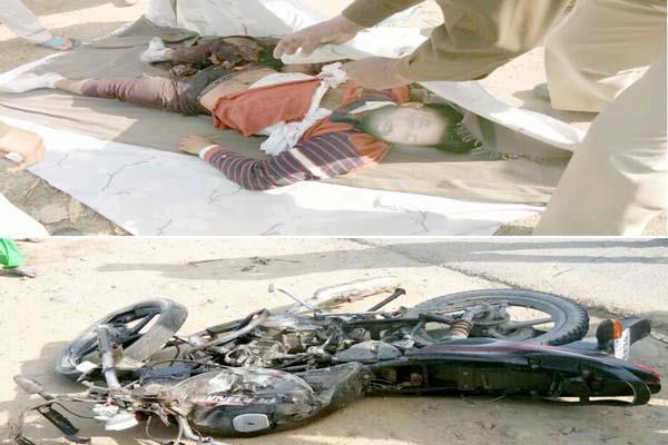nangal  bus  bike  collision yuvak  death