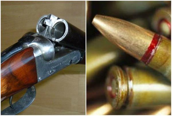 financier murder case  12 bore guns and cartridges recovered