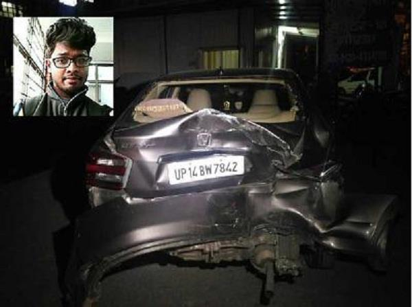 btech student crushed while reverse car death
