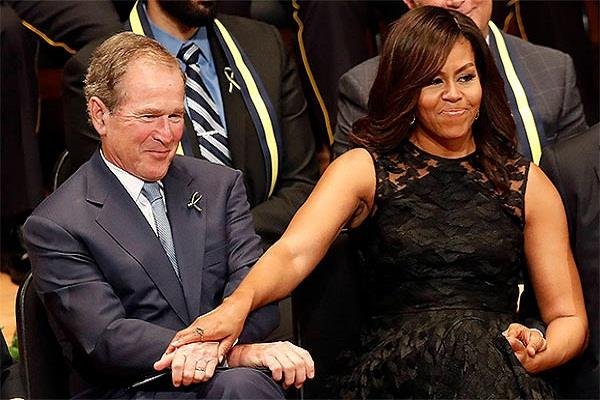 george w bush explains his fondness for michelle obama