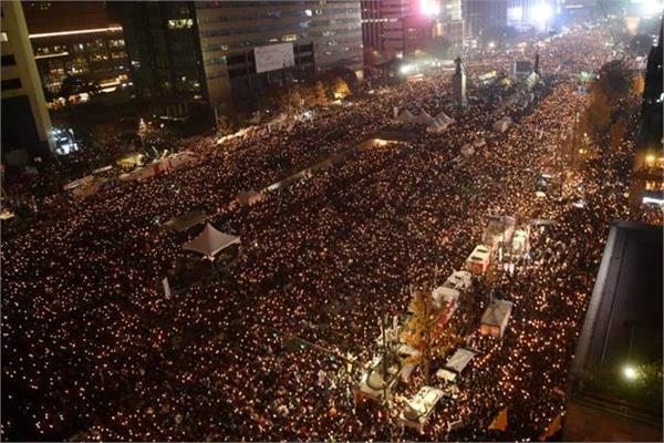 south korea protesters demand impeached president park geunhye arrest