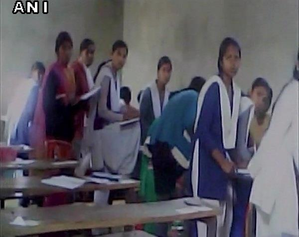 mass cheating during class 10th mathematics exam in up