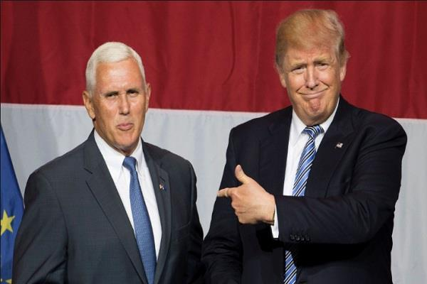 trump and pence are made aware of north korea missile test