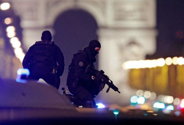 terrorist attack in champs elysees in paris