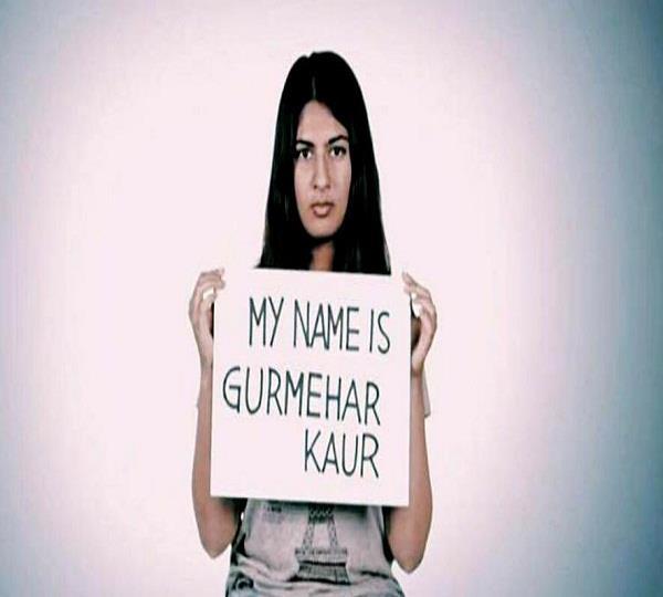 gurmehar breaks silence not your martyrs daughter