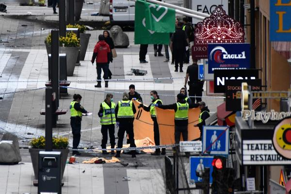 stockholm truck attack kills 4 terrorism is suspected