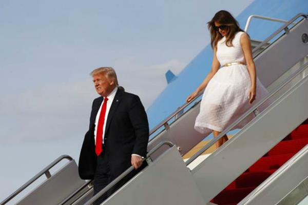 trump back at white house after easter church service in florida