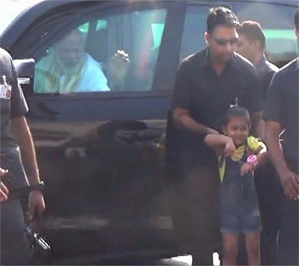 pm narendra modi gujarat visit circuit house kiran hospital child