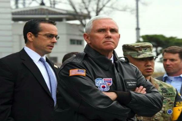 us vp pence warns north korea all options are on the table in dmz visit