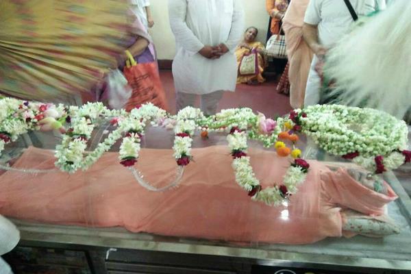 funeral program of maharaj ji of shree chaitanya gaudiya math