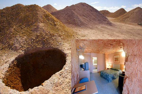 a town in a hole this australian village is entirely underground