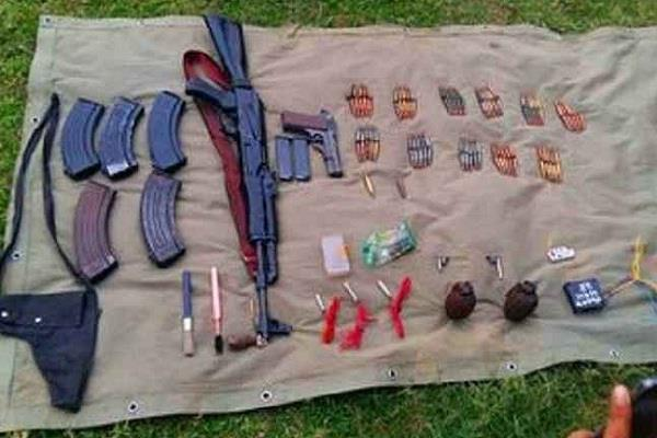 jumau from the hardcore maoist ak 56 and arrested with explosive