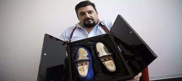 gold shoes in italy market
