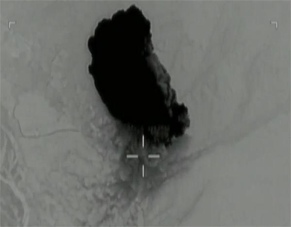 us army releases video of gbu 43 moab bomb strike in afghanistan