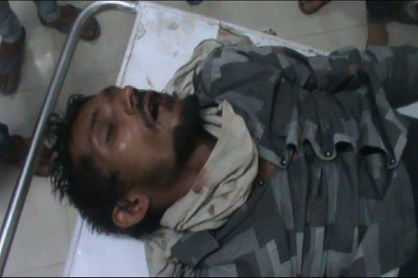 palwal  police  truck  beating  hospital