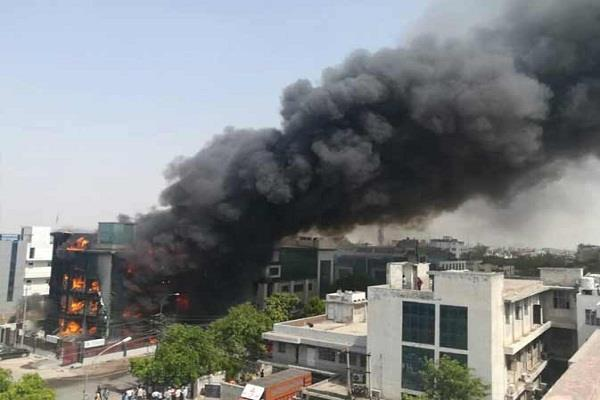 noida fire in the factory of led bulb 6 burnt water