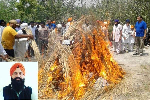last rites of saptanka satnam in 12 days after being killed in chandigarh
