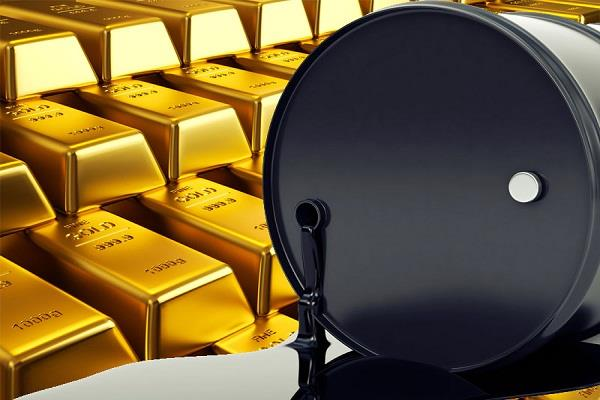 strong bounce in crude  fall in gold