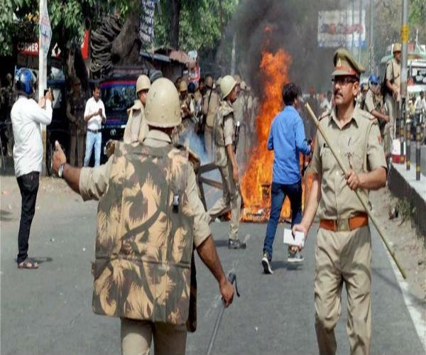 a violent clash between two factions in aligarh