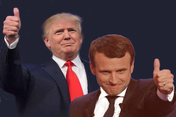 trump congratulates emmanuel macron on french election win
