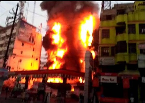 fire in a mall in patna
