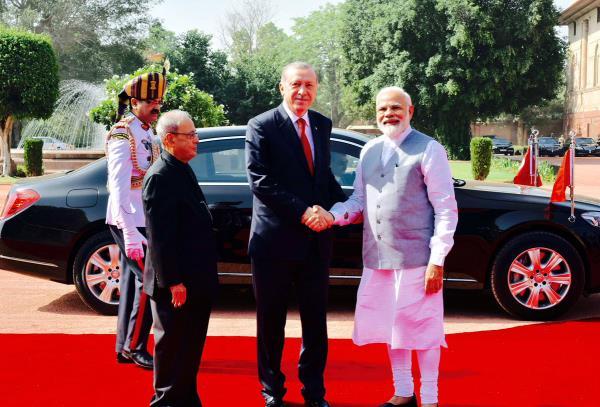 president of turkey today meet pm modi