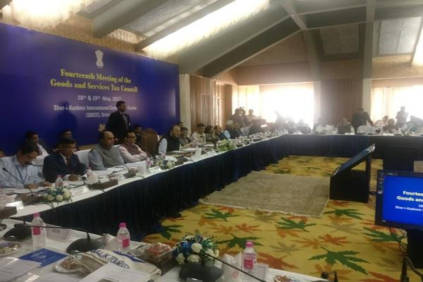 14th gst council meet at sher i kashmir international conference centre