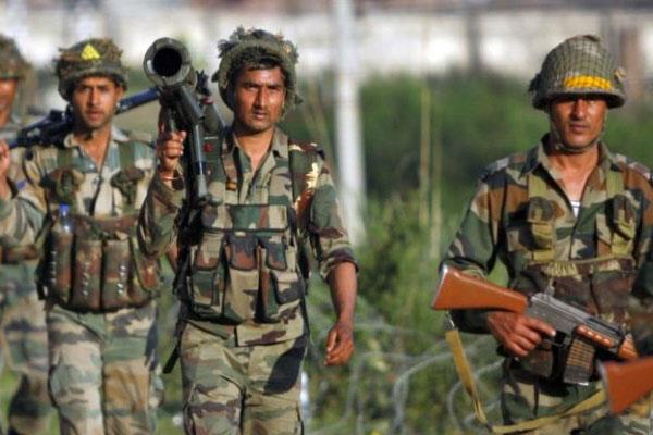 infiltration bid foiled  2 soilder martyr  2 militant killed