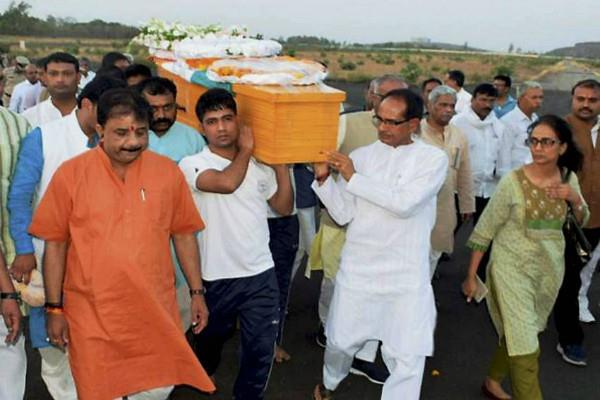anil madhav dave funeral done today