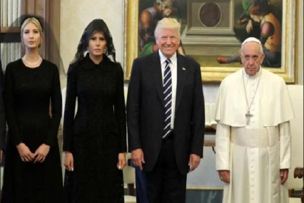 donald trump meets with critic pope francis at the vatican