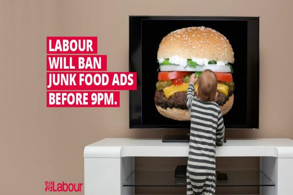labour vows pre watershed junk food ad ban
