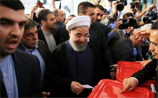 iran state tv declares hassan rouhani as the winner in presidential polls