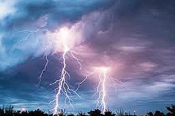 lightning struck at 2 places in samana loss of millions