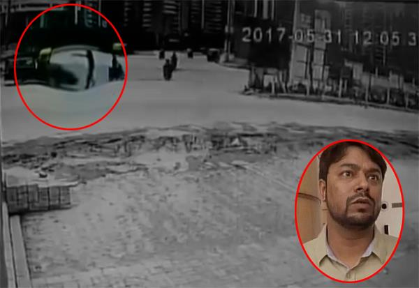 unidentified persons opened fire at car of rahul sharma