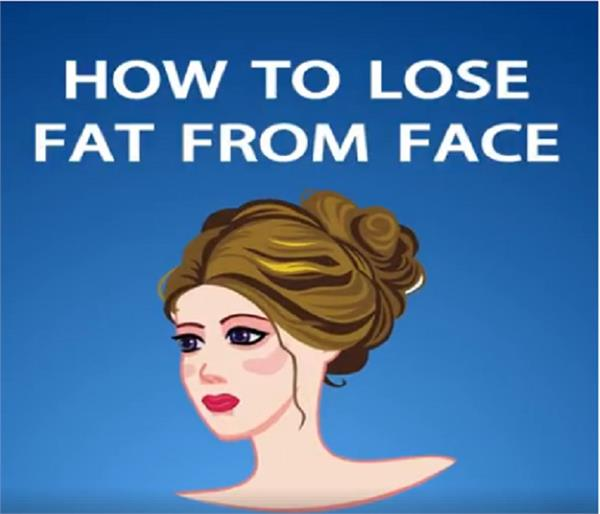 reduce face fat like this